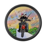 Guardian Blessing 2 Riders Large Wall Clock