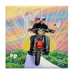 Guardian Blessing 2 Riders Tile Coaster