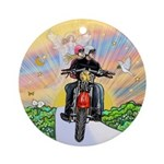 Guardian Blessing 2 Riders Ornament (Round)