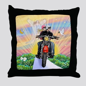 Guardian Blessing 2 Riders Throw Pillow