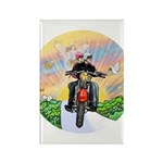 Guardian Blessing 2 Riders Rectangle Magnet