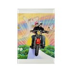 Guardian Blessing 2 Riders Rectangle Magnet (10 pa
