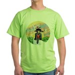 Guardian Blessing 2 Riders Green T-Shirt