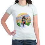 Guardian Blessing 2 Riders Jr. Ringer T-Shirt