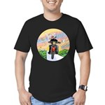 Guardian Blessing 2 Riders Men's Fitted T-Shirt (d