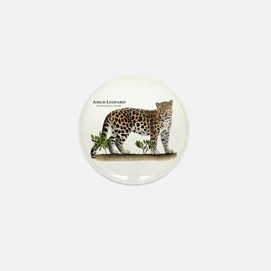 Amur Leopard Mini Button