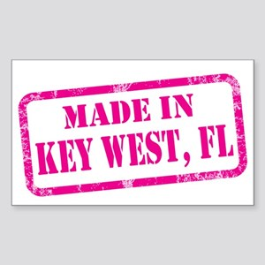 MADE IN KEY WEST Sticker (Rectangle)