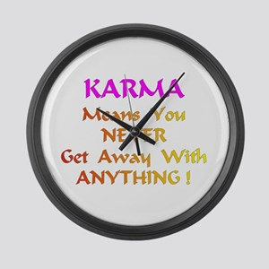 Karma Means Gifts Large Wall Clock