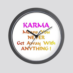 Karma Means Gifts Wall Clock