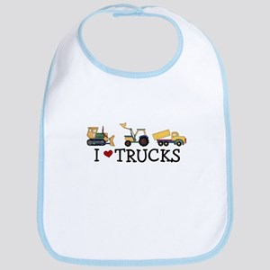I Love Trucks Bib