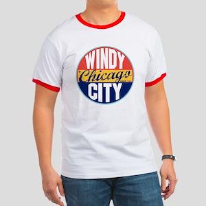 Chicago Vintage Label Ringer T