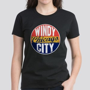 Chicago Vintage Label Women's Dark T-Shirt