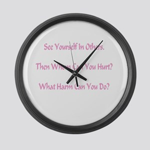 What Harm Can You Do? Gifts Large Wall Clock