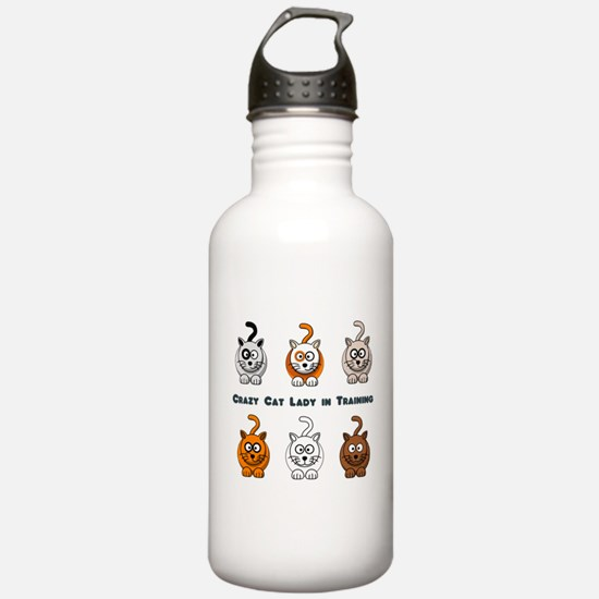 Crazy Cat Lady In Training Water Bottle