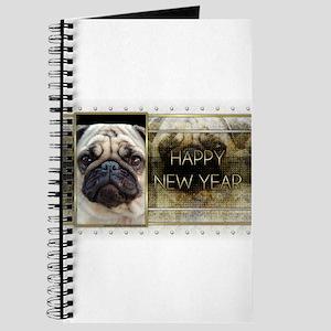 New Year - Golden Elegance - Pug Journal
