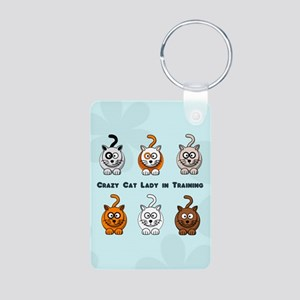 Crazy Cat Lady In Training Aluminum Photo Keychain