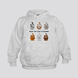 Crazy Cat Lady In Training Kids Hoodie