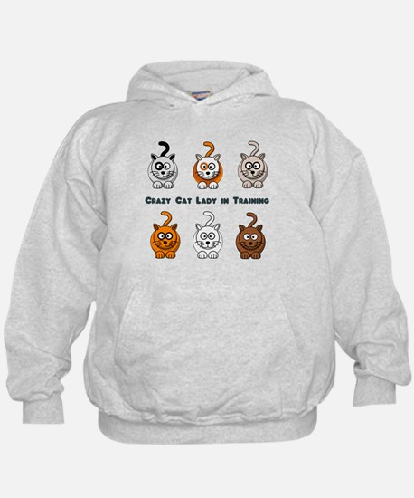 Crazy Cat Lady In Training Hoodie