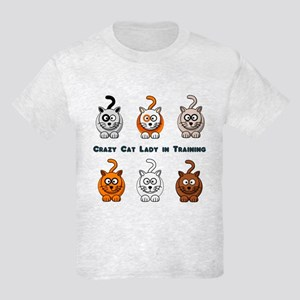 Crazy Cat Lady In Training Kids Light T-Shirt