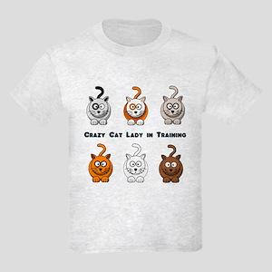Crazy Cat Lady In Training Kids Light T-Shirt