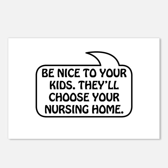 Nursing Home Bubble 1 Postcards (Package of 8)