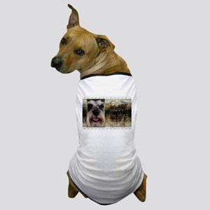 New Year - Golden Elegance - Schnauzer Dog T-Shirt