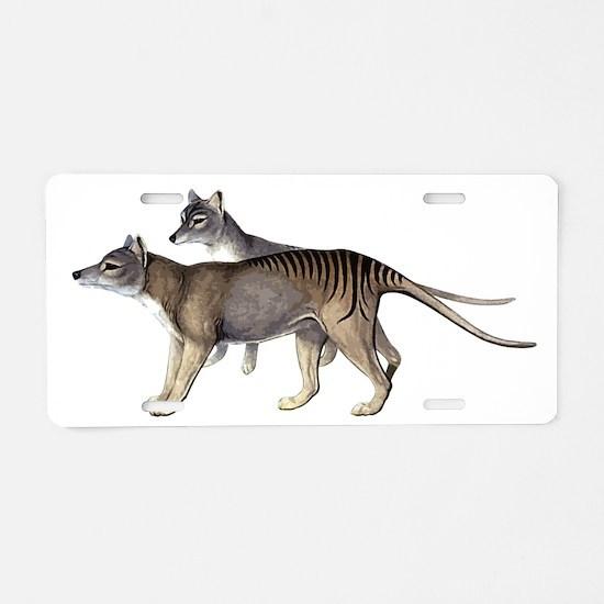 Thylacine Aluminum License Plate