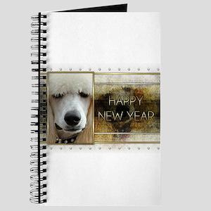New Year - Golden Elegance - Poodle Journal