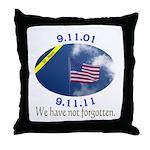 9-11 We Have Not Forgotten Throw Pillow