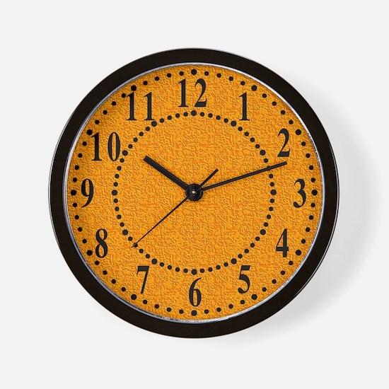 Rough Orange Look Wall Clock