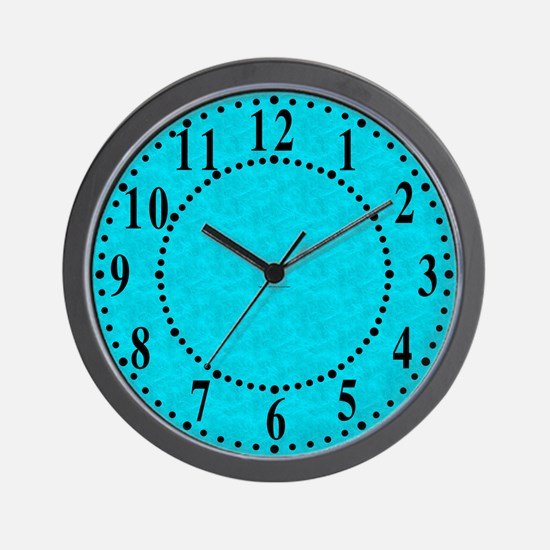 Cyan Parchment Look Wall Clock