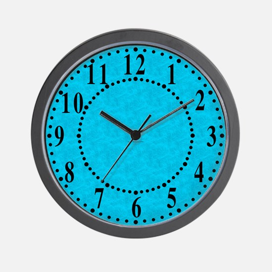 Blue Parchment Look Wall Clock