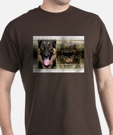 New Year - Golden Elegance - Shepherd T-Shirt