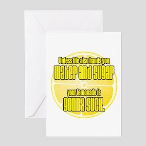 When life gives you lemons make lemonade greeting cards cafepress when life hands you lemons greeting card m4hsunfo