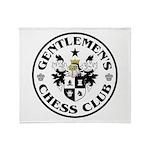 Gentlemen's Chess Club Throw Blanket