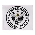 Gentlemen's Chess Club Throw Blanket