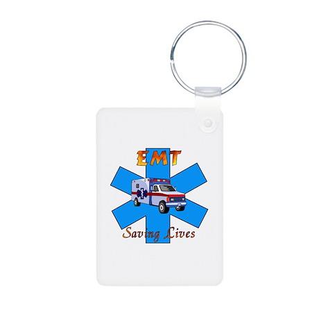 EMT Saving Lives Aluminum Photo Keychain