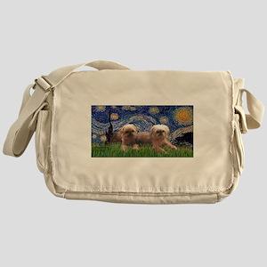 Starry / 2 Affenpinschers Messenger Bag