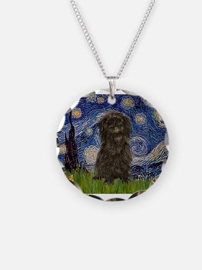 Starry Night / Affenpinscher Necklace