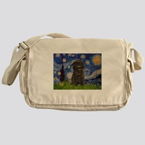 Starry Night / Affenpinscher Messenger Bag