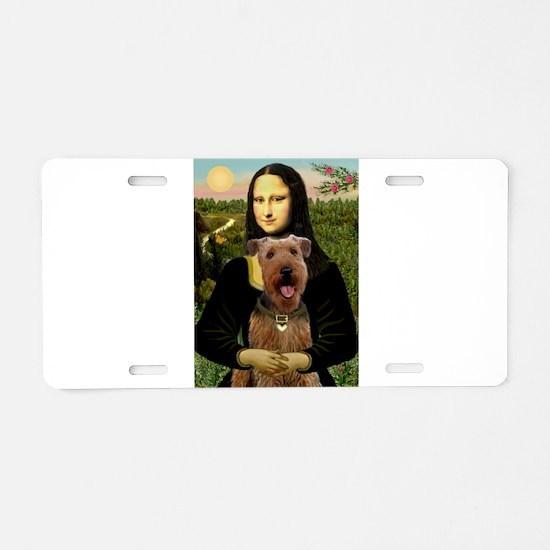 Mona Lisa - Airedale #3 Aluminum License Plate