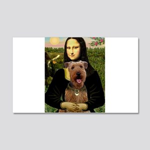 Mona Lisa - Airedale #3 20x12 Wall Decal