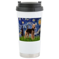 Starry Night - Airedale #6 Stainless Steel Travel