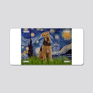 Starry - Airedale #1 Aluminum License Plate