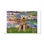 Lilies#2 & Airedale (S) Car Magnet 20 x 12