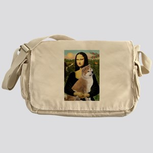 Mona / Akita (br&w) Messenger Bag