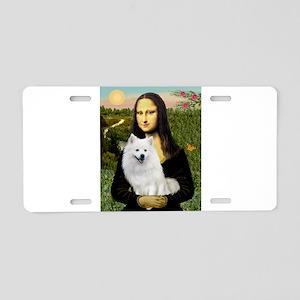 MonaLisa-AmEskimoDog Aluminum License Plate