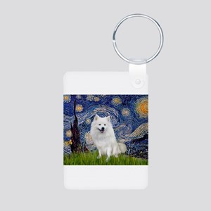 Starry-Am. Eskimo Dog Aluminum Photo Keychain