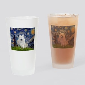 Starry-Am. Eskimo Dog Drinking Glass