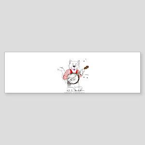 Banjo Cat Sticker (Bumper)
